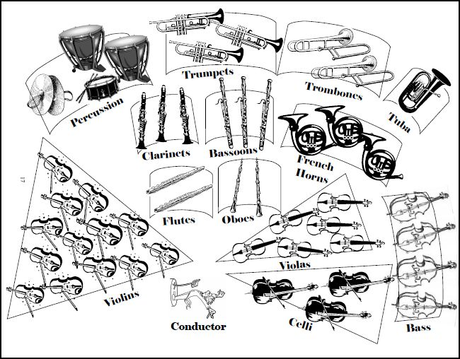 orchestra coloring pages sections of the orchestra