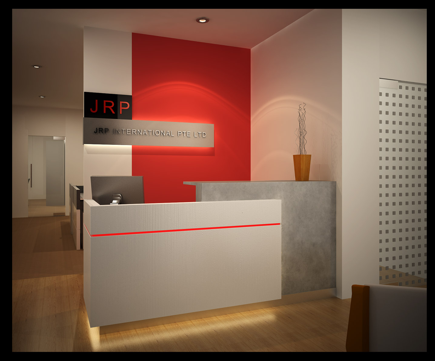 Rhythms of papagyi office reception design for Bureau reception