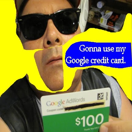 generic credit card icon. My Google credit card arrived