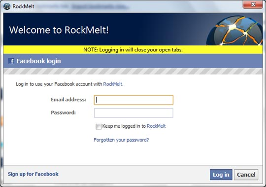 facebook desktop version login