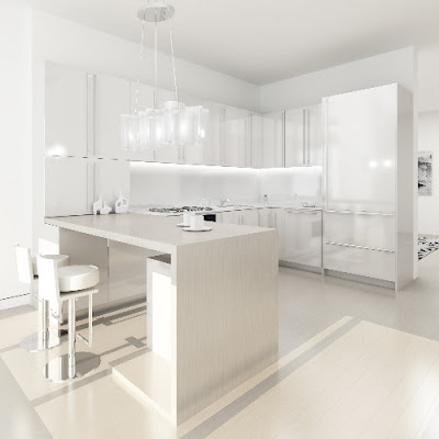 minimalis design on White Kitchen Design - Minimalist Home Design