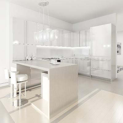 Home Decorators on Modern White Kitchen Interior Design Decorating Home