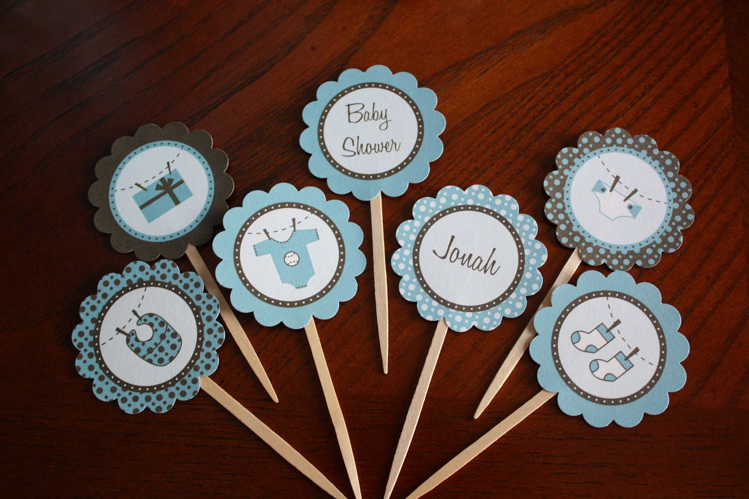 JaeBellz: {Sneak Peek} Blue & Brown Baby Shower