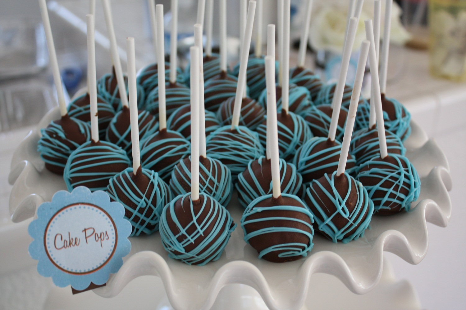 blue and brown baby shower table ideas photograph jaebellz