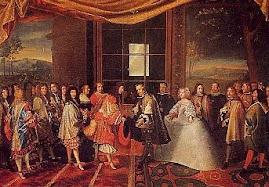 Maria Teresa de Áustria sendo apresentada à Luis XIV