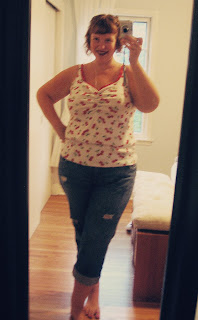 Self-stitched September – Day 6. Cherries on top and getting RTW jeans to fit.