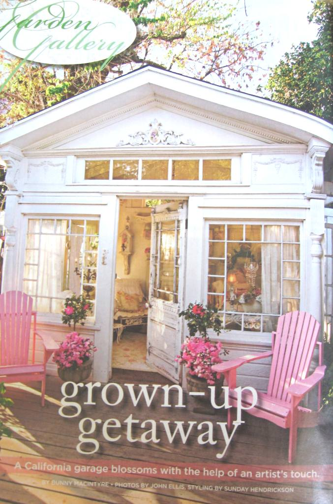 Cindy Ellis Art Our Garden House in Romantic Country