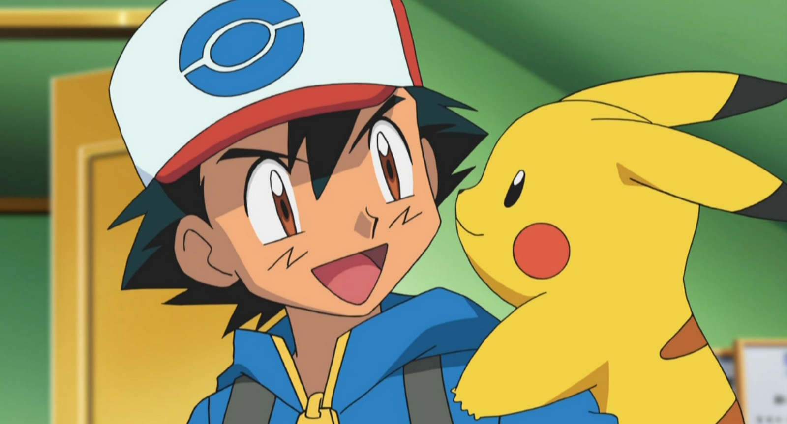 The first things I noticed as when something was up, is when Ash wakes up  in his room and Pikachu greets him by jumping on his shoulder and saying,  ...