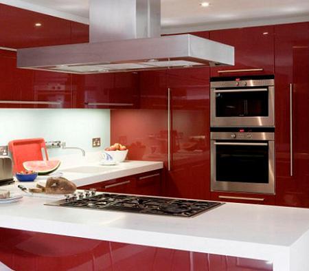 Baires deco design dise o de interiores arquitectura - Cocinas de color rojo ...