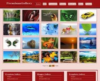 Premium Gallery Blogger Template