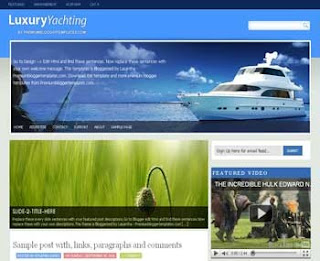 Luxury Yachting Blogger Template