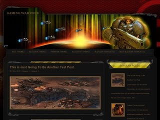 Gaming War Zone Blogger Template