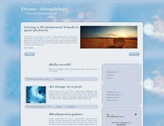 Simplebox Blogger Template