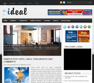 Ideal Blogger Template