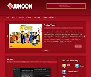 Junoon Blogger Template