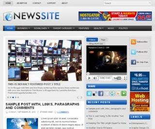 News Site Blogger Template