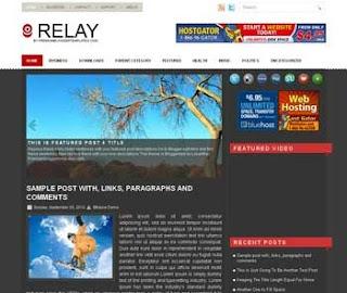 Relay Blogger Template