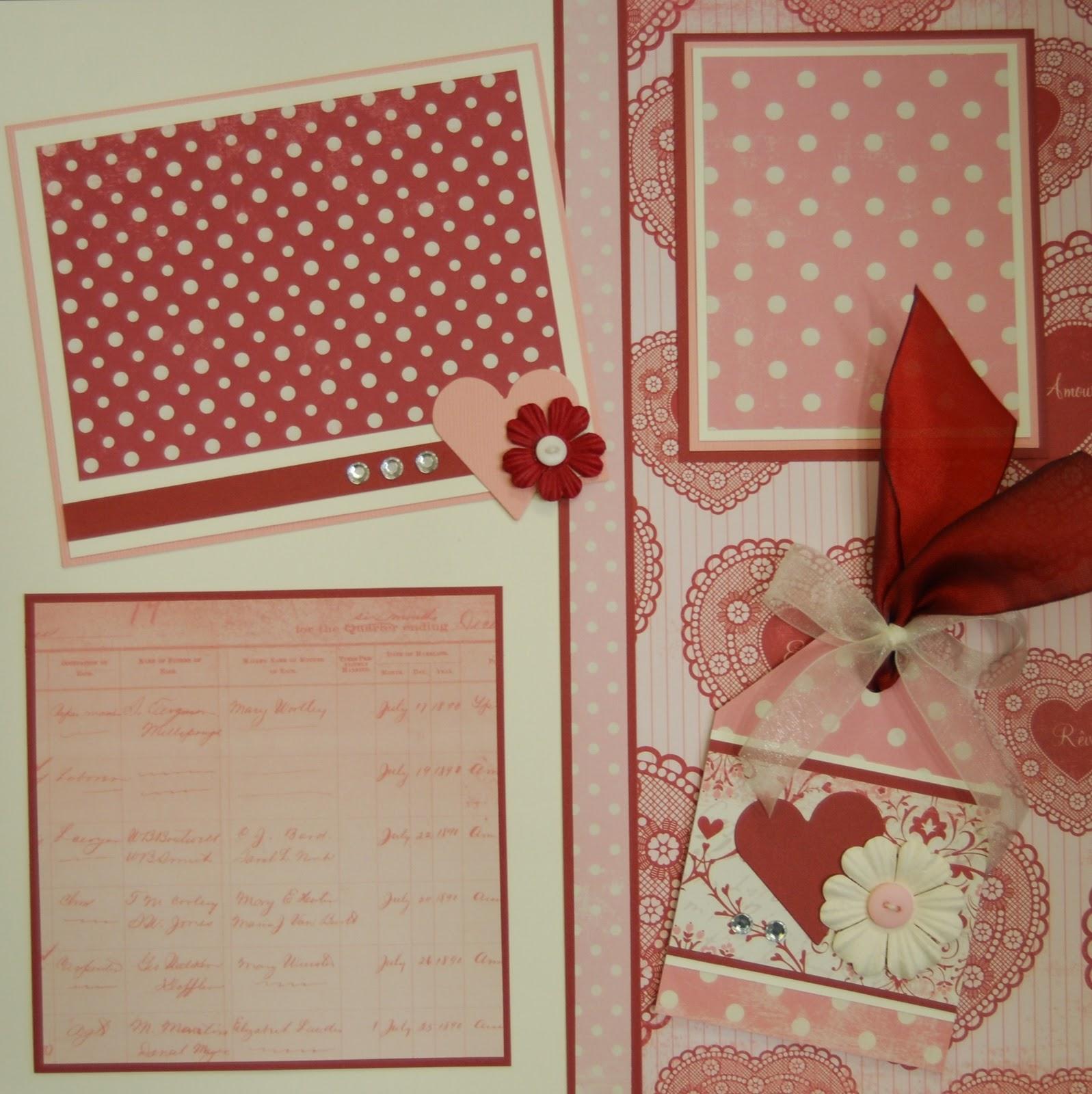 January scrapbook ideas - Valentine Page Kit