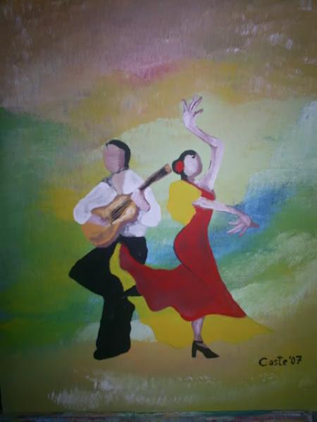 Bailaora con guitarrista
