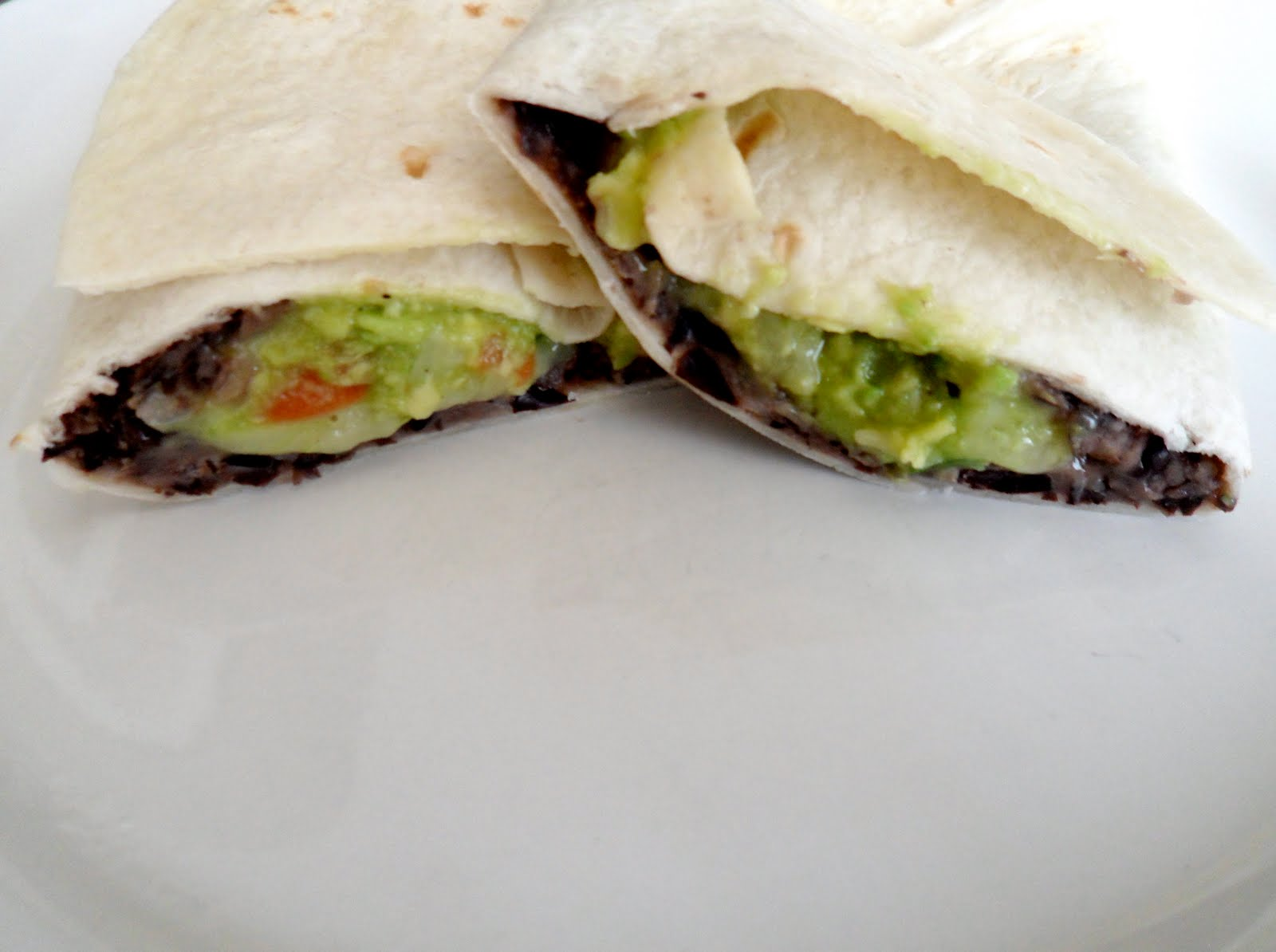New Chapter...: Black Bean Burritos and Guacamole