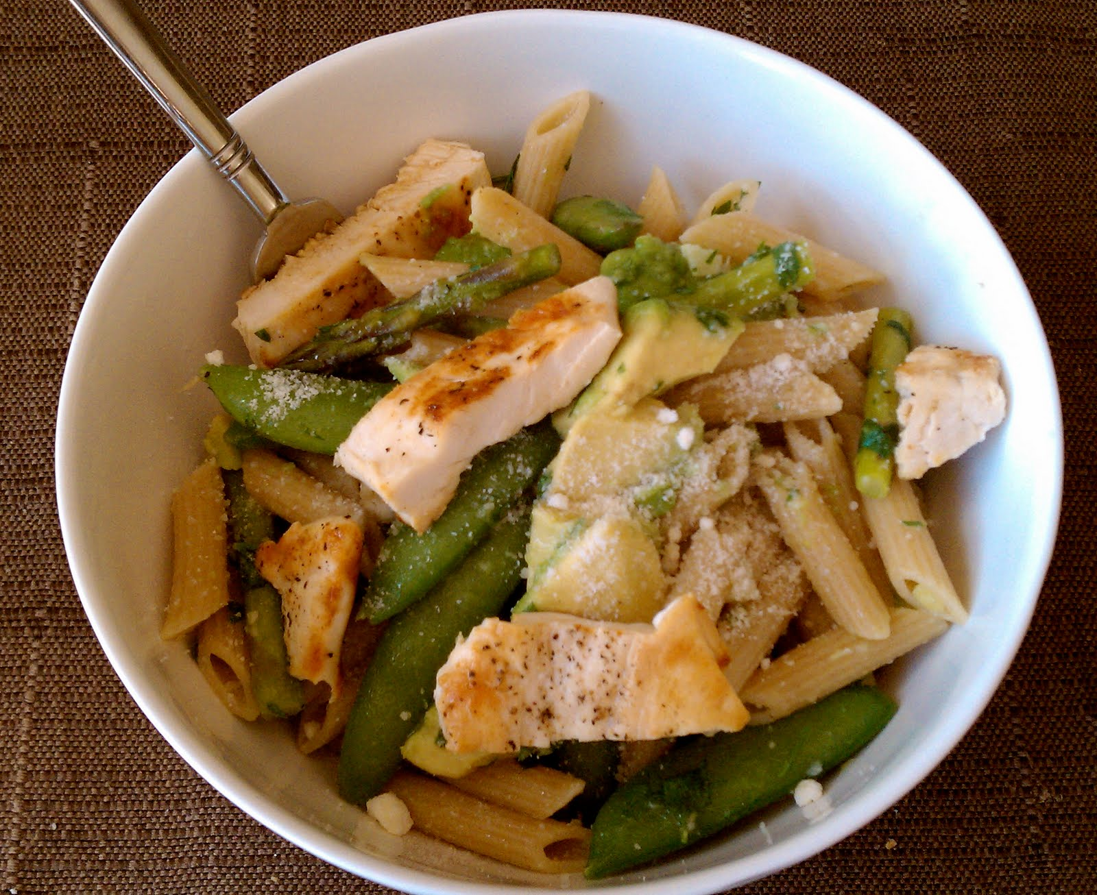 New Chapter...: Asparagus, Snap Pea and Avocado Pasta