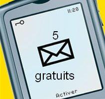 5 sms gratuits