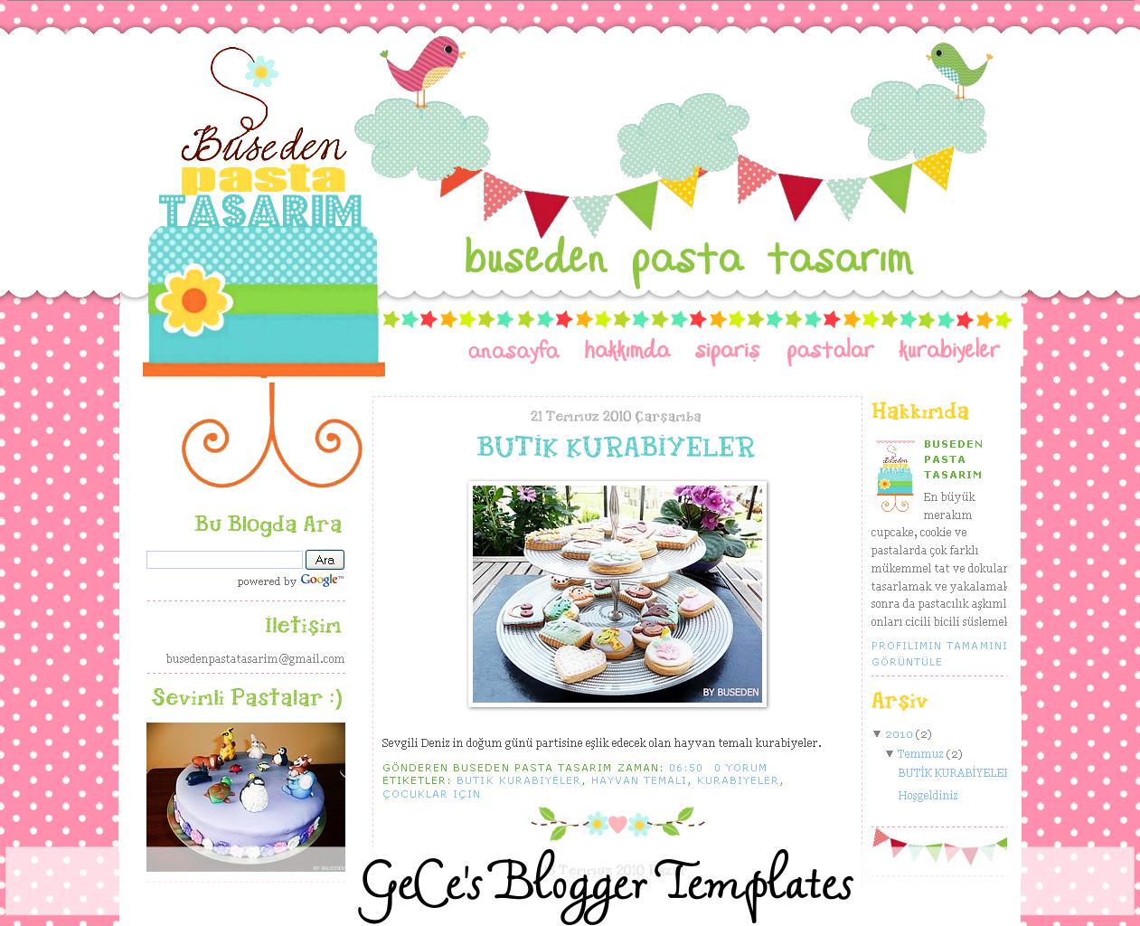GeCe\'s Blogger Templates: A Cute Blog Design for Buseden