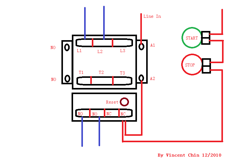 DOL Starter Wiring Diagram http://www.red-grey.co.uk/general/dol-starter-wiring-diagram.html