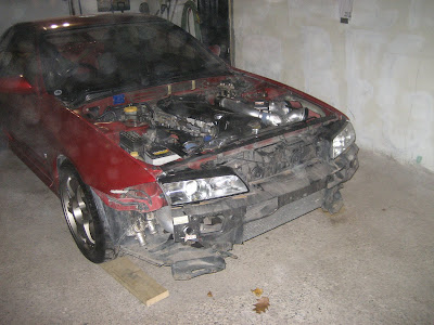 Nissan Skyline GTR hood and grill removed
