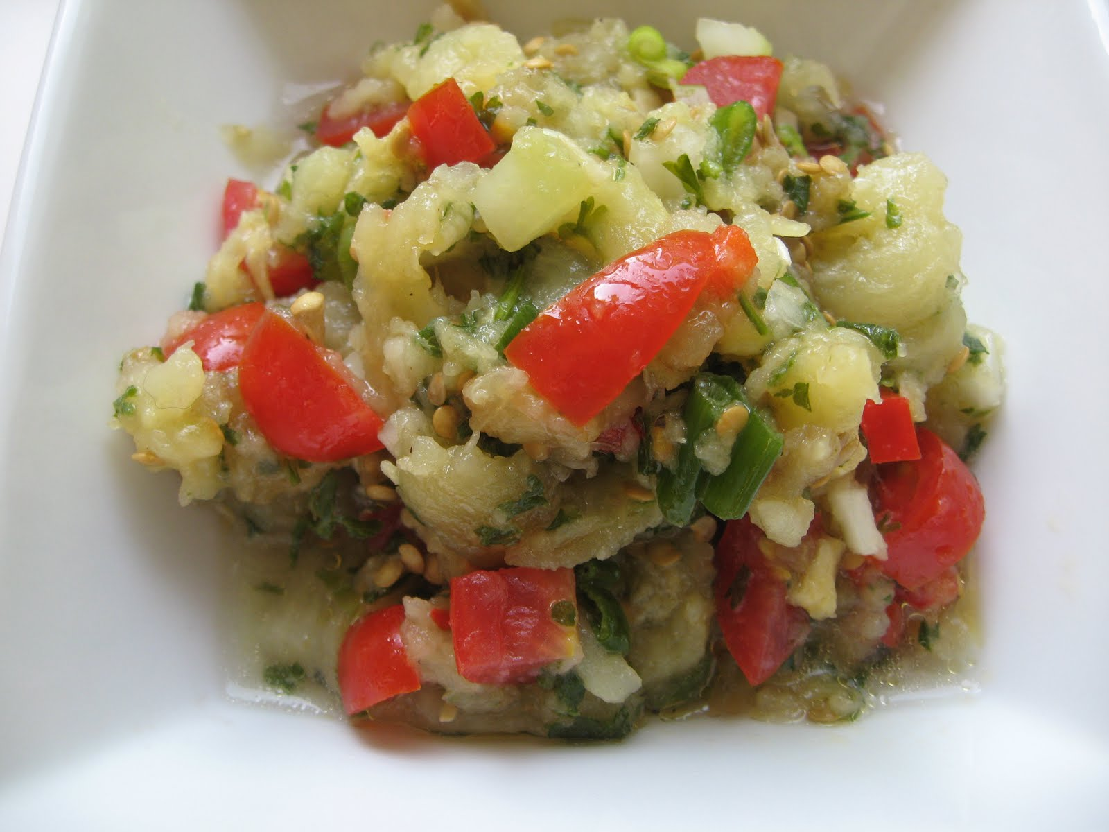 she's in the kitchen: roasted eggplant salad with peppers ...