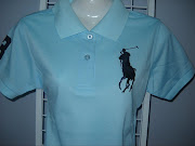 POLO BABY BLUE SIZE: L PRICE: RM39.00. POSTAGE: WMRM6, EMRM9 (polo baby blue ladies close up)