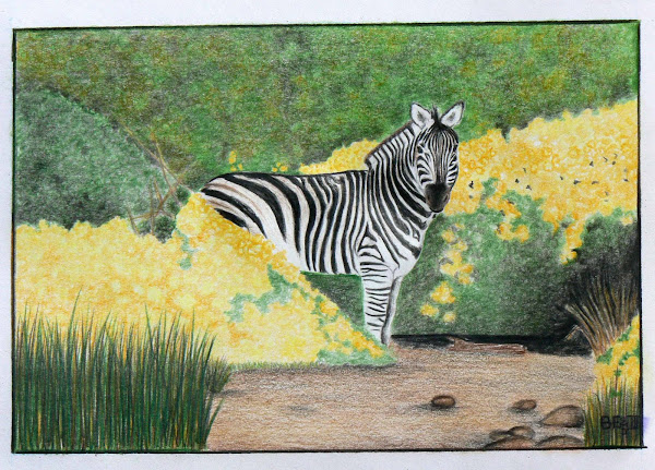 Zebra in Flowers