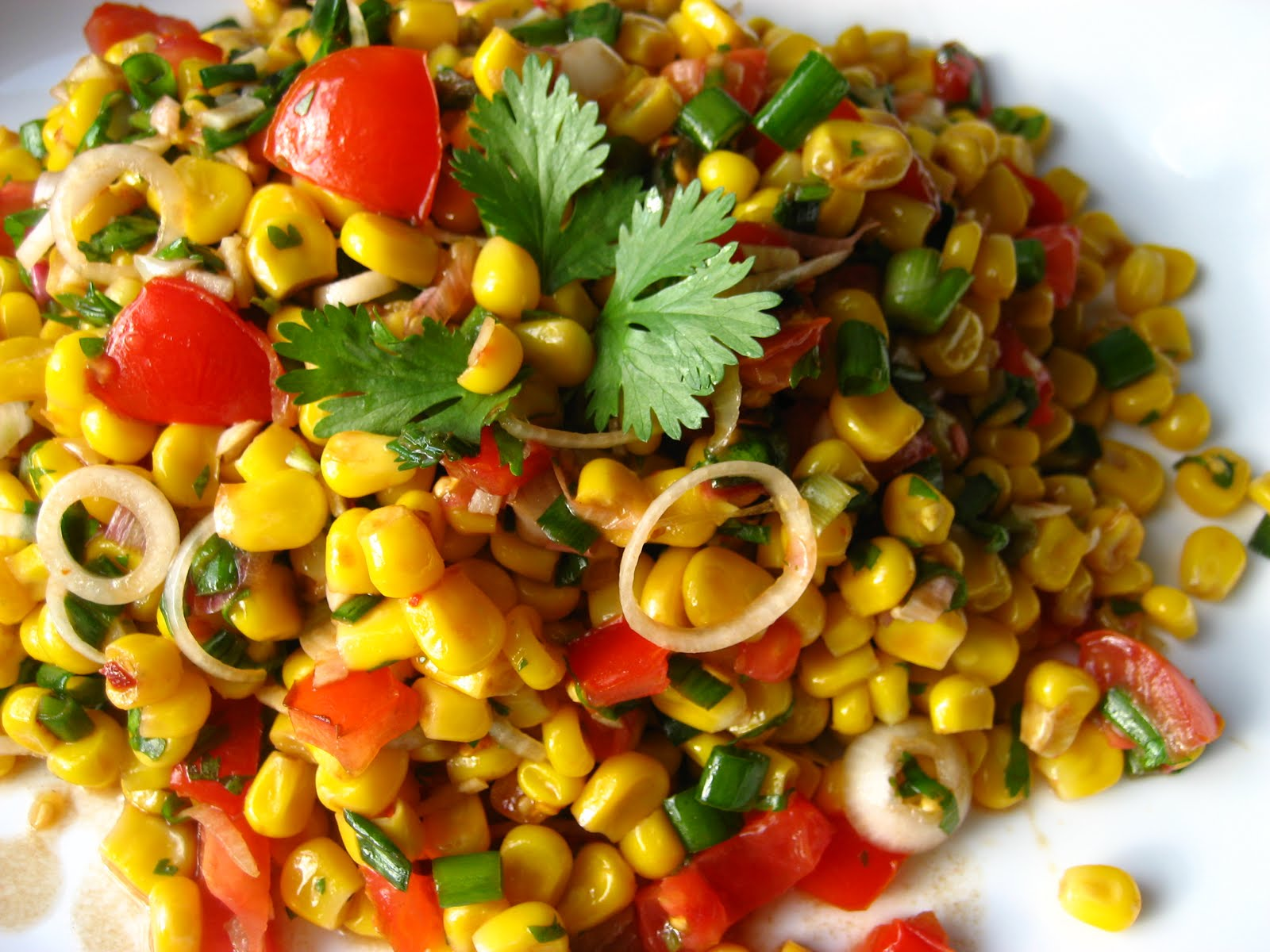 ... Cooking In Montana: Tomato and Corn Summer Salad...with Fresh Herbs