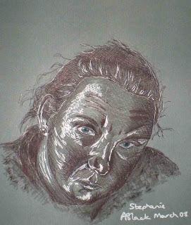 Amy's portrait of Steph (me)