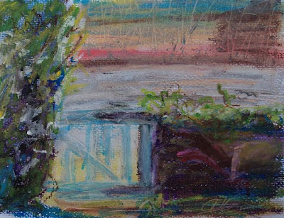 Gate, oil pastel March 07