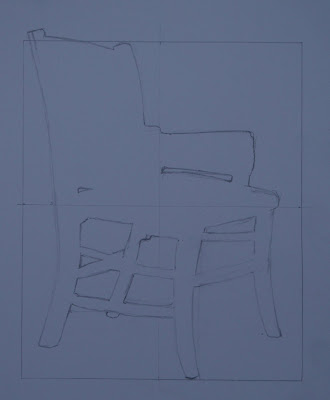 chair, negative spaces, pencil March 07