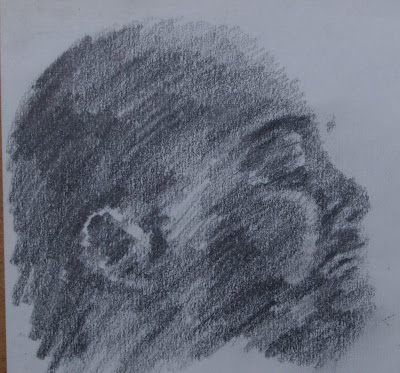 Dad, soft pencil, June 1990