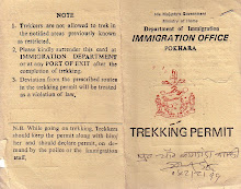 Trekking Permit - Anapurna 1, Nepal