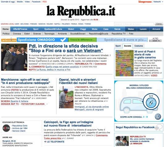 Pazzo per repubblica il blog dei feticisti di repubblica for Sito repubblica