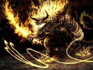 monstruo de llamas