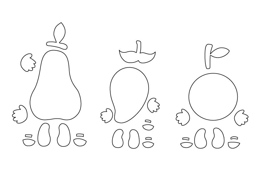 otras figuras en este caso el mango y la naranja