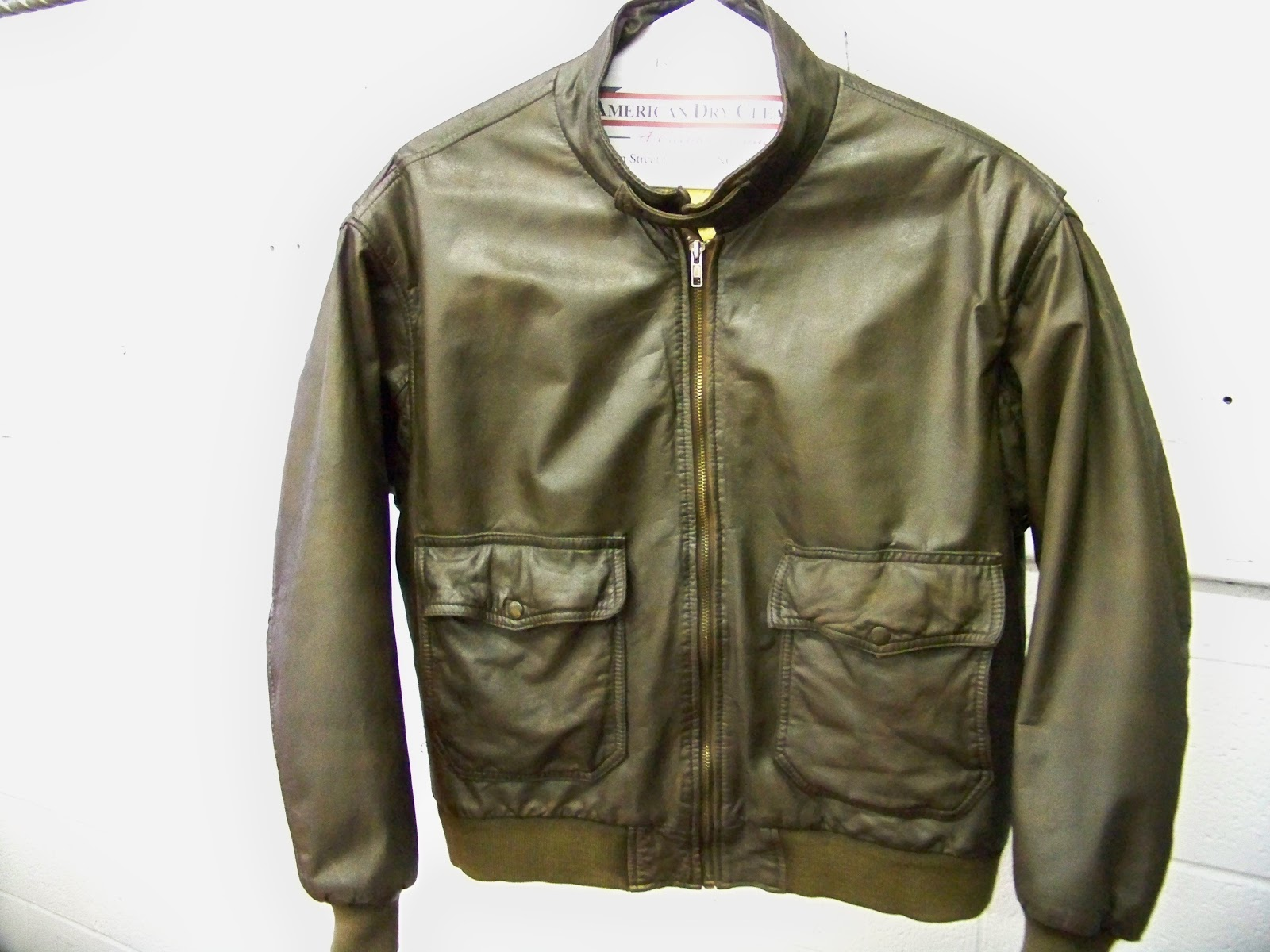 Leather Cleaning, Re-dyeing and Restoration: Restoring Old Bomber ...