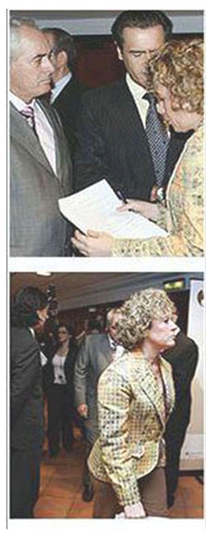 Discusión entre López Aguilar y Mª del Mar Julios por la presidencia de un acto