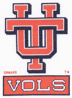 cross stitch for university of tennessee