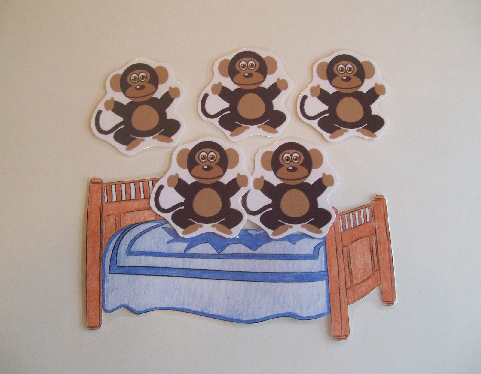 Five Little Monkeys Birthday Cake