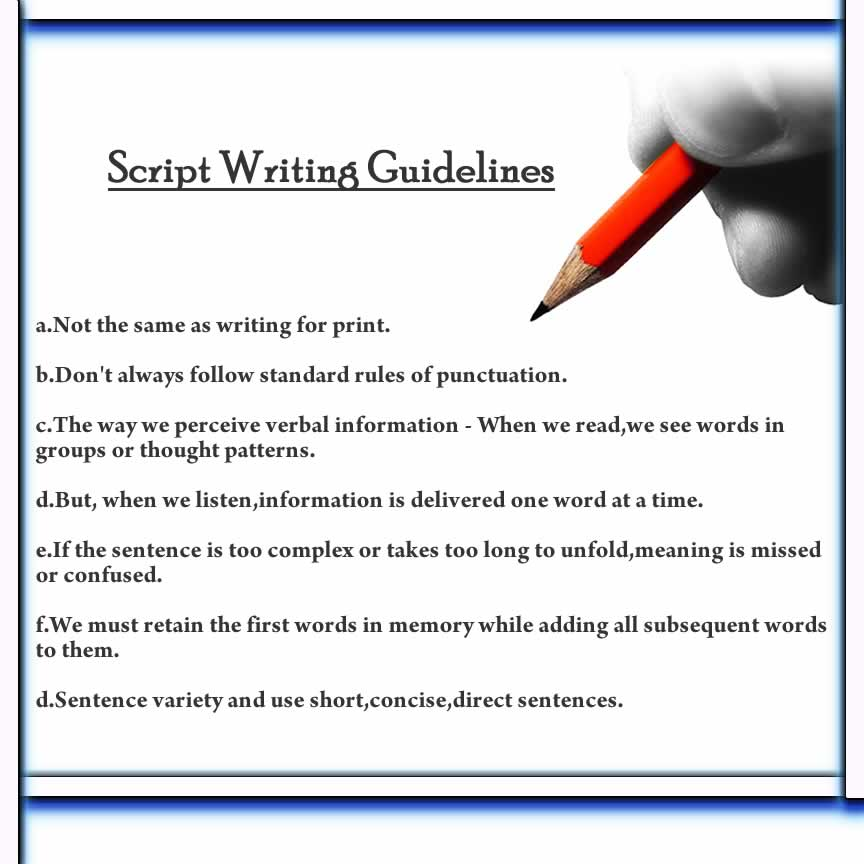 How to write script for movie