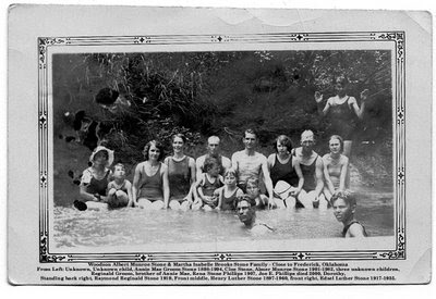Stone Family swimming near Frederick OK