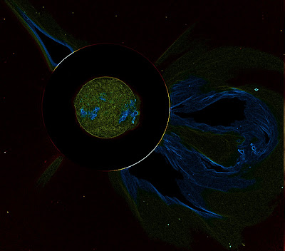 A coronal mass ejection in false color