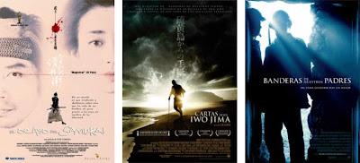 El ocaso del samurai / Tasogare seibei (Yôji Yamada, 2002); Cartas desde Iwo Jima / Letters from Iwo Jima y Banderas de nuestros padres / Flags of our fathers (C. Eastwood, 2006) (ampliar)