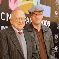 Santiago Carrillo y el director Manuel Martín Cuenca